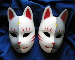 Fox masks 4 by Mishutka