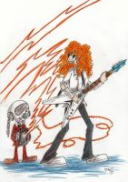 Mustaine and mini rattlehead by the-ChooK