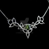 Peridot Celtic Necklace by camias