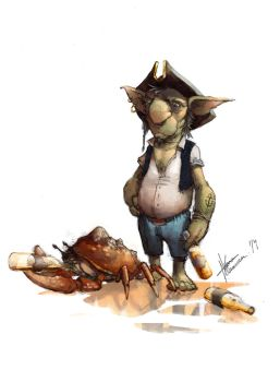 Pirate goblin Color by troubadour93