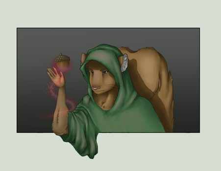 A Sorcerer and his Acorn by Ellunas