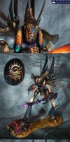 Slice n dice. Eldar Phantom Titan by Atropos907