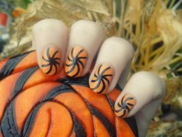 Halloween Swirls by NailedItWithGlitter