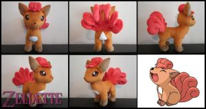 Vulpix Pokemon Plush by Miss-Zeldette