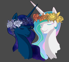 Flower Crowns closeup (unfinished) by Artemisaw