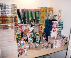 Some of my anime figures. by Android18a