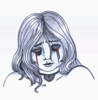 Pain:: Self Portrait by Crystallic-Fusion