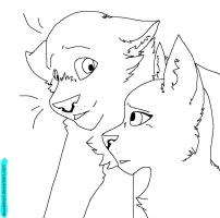 Cat Lineart 2 by BlueStencil