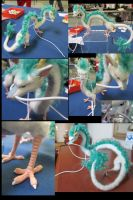 Haku Mixed Media Dragon - image collage by tallydragon