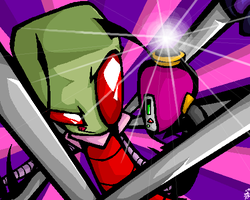 Zim and his rectangular head by The-invasion