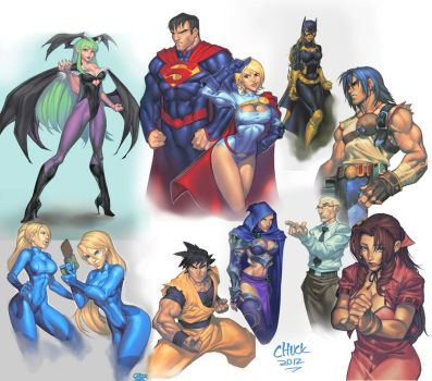 SKETCHES by chuck-piresART