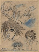 Death Note Sketch Page by cybre