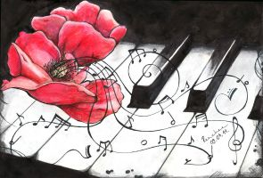 The flower of the music by Renchee