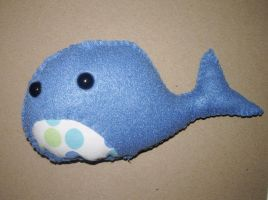 Blue Whale Plushie by kiddomerriweather