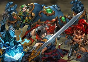 Battle Chasers by TeoGonzalezColors