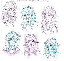 The Many Faces of Devrie :D by muse09