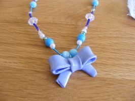 Blue Bow Necklace by Charlotte-Holmes