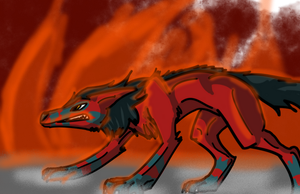 Andrarch - Wildfire Wolf by Temorali