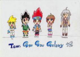 Chibi Team Gan Gan Galaxy by IperGiratina98