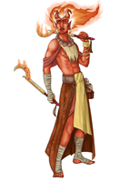 Ifrit Monk by eradigan