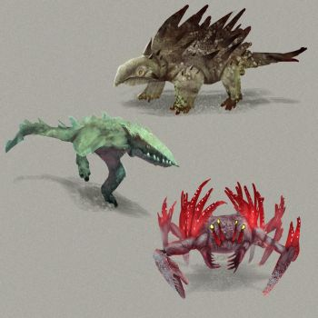 Creature sketches 1 by MySoulDive