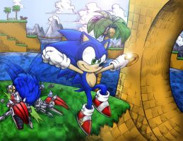 Sonic the Hedgehog 4 Colored by AIBryce