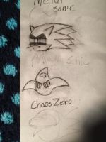 Mecha Sonic and Chaos Zero (improved) by Ark770