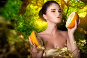 Melons . beauty portrait by VeroNArt