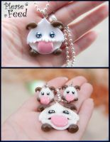 League of Legends, Poro Earrings and Necklace set by IvrinielsArtNCosplay