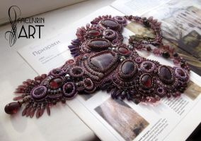 Twilight - embroidered necklace by Callista1981