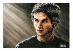 Ian Somerhalder as Damon TVD - 02 by martalopezfdez