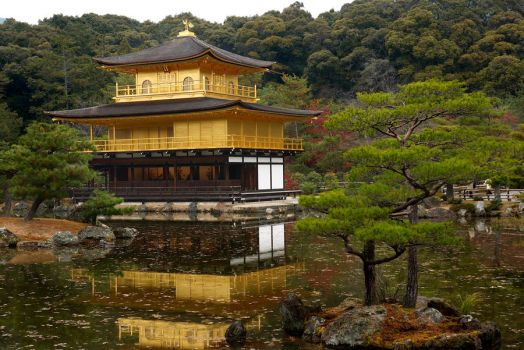 Golden Temple, Kyoto by onkami