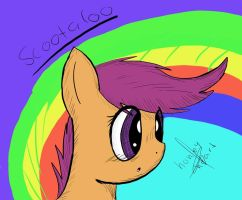 Scootaloo by HoneyHeart23