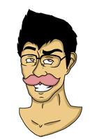 Markiplier - Warfstache King by AngelsRainFire