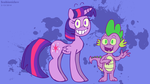 Parapony Twilight and Spike by ScoBionicle99