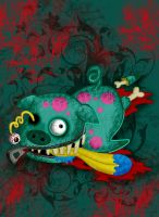 Pig Zombie::::: by Witchiko