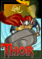 Thor and Loki by BouncieD