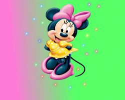minnie mouse wallpaper by lillysim