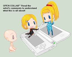 .:Open Collab:. Aran Twins by Metroid-Tamer