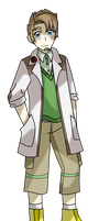 Professor Evergreen - Electric/Grass Gym Leader by Miserable-in-Orange