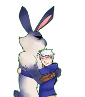 Jack Frost and Bunnymund 9 by saeru-bleuts