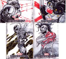 marvel beginnings 3 sketch cards 2 by CRISTIAN-SANTOS