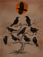 Ten Crows by MightySquirrel