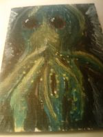 Cthulhu Painting by 16bitmick