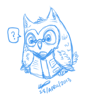 Wee Nerdy Owl - 5 min request/doodle by Puzzlr