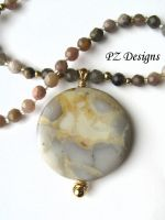 Gabrielle's Neutrals Necklace by PurlyZig
