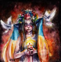 Pray for Ukraine by Artilin