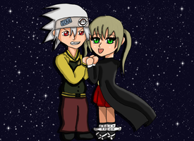Soul and Maka by Kyun-Kyun
