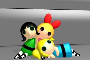 Blossom, Bubbles, and Buttercup (Human/oids) by RJMMD