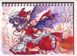 Touhou Project Coloured Version by MagnificentCookie